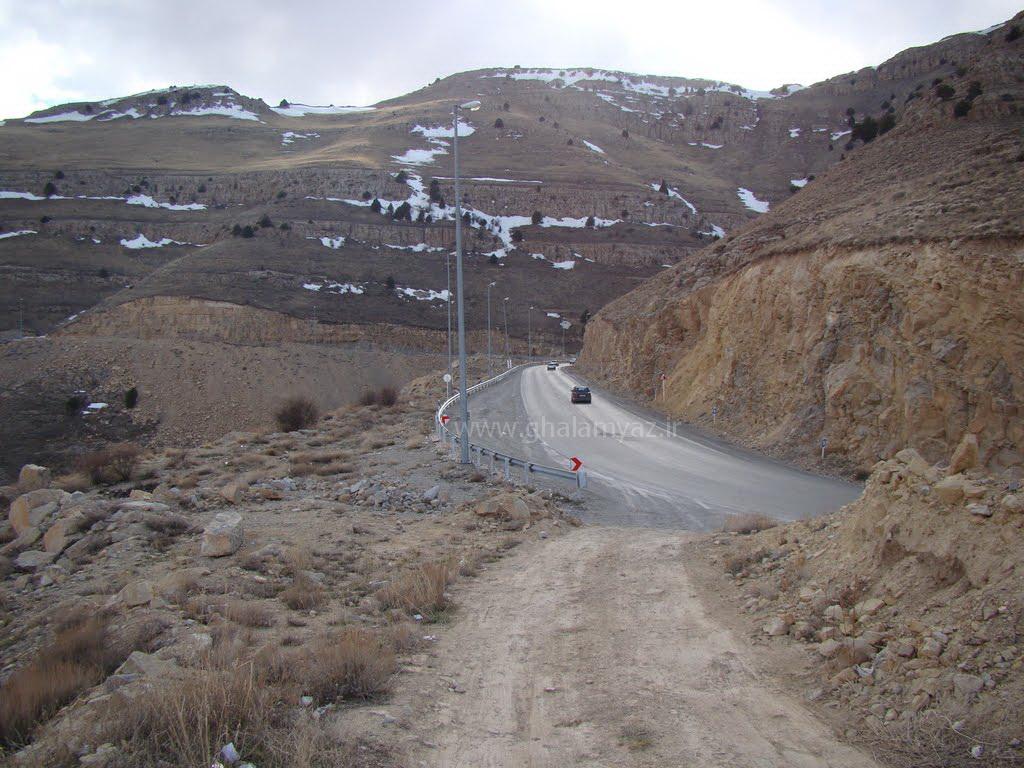جاده درگز به قوچان مشهد - گردنه های تیوان