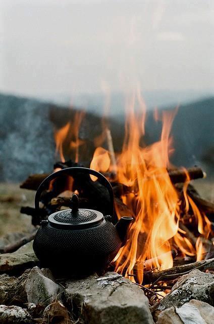 چایی روی آتش